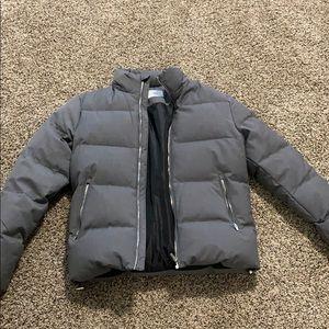 Zara Men's Puffer Jacket Like New Gray